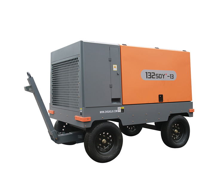Heavy duty mobile screw air compressor - electric mobile products